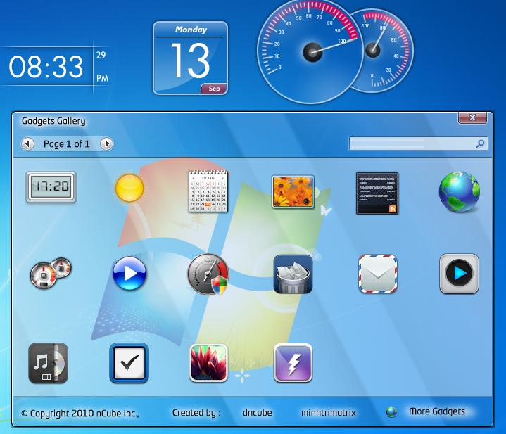 Windows 7 Gadgets Pack Renewtweets